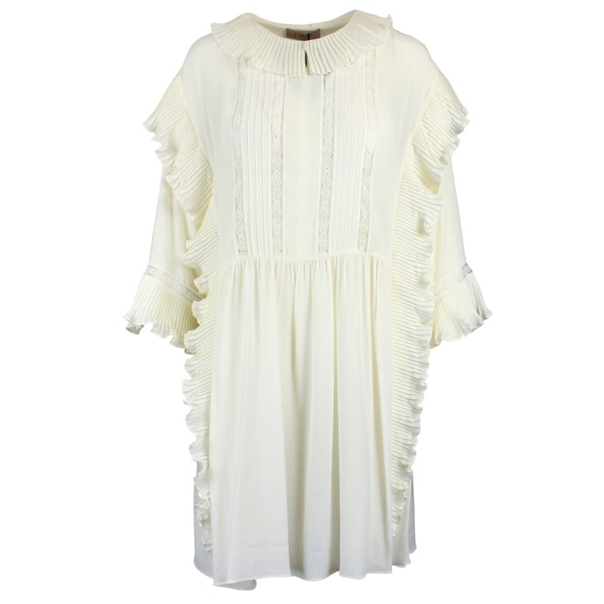 Dress with rouches White Twin-Set