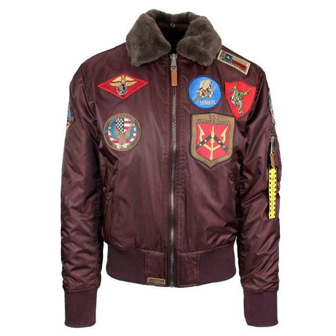 Bomber con patch Burgundy TOP GUN