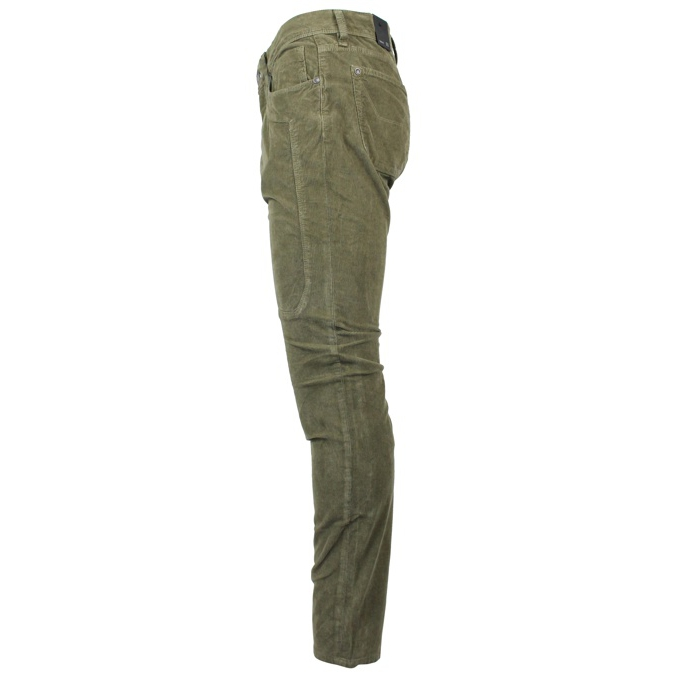 Velvet trousers with maxi patches Dark green Jeckerson