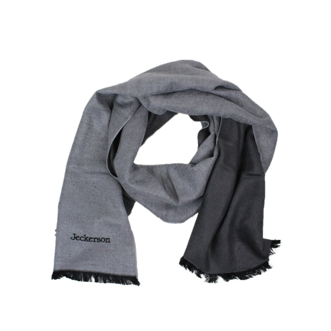 Two-tone scarf with frayed edges Grey Jeckerson