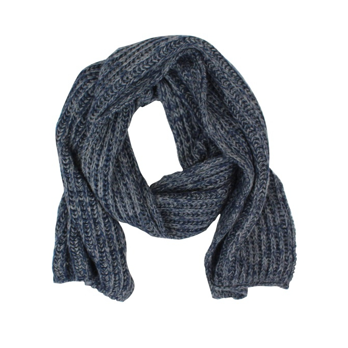 Ribbed braided scarf Anthracite Jeckerson