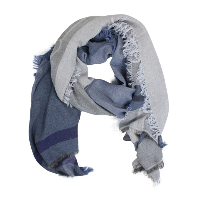 Viscose and modal scarf Blue SCHONBBERG
