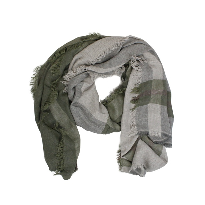 Viscose and modal scarf Green SCHONBBERG