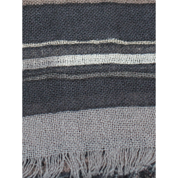 Patterned scarf with frayed edges Moro SCHONBBERG