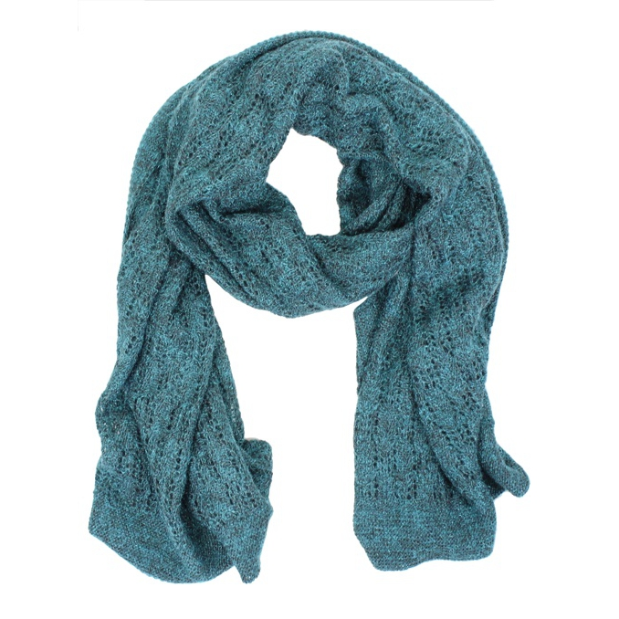 Perforated micro fantasy scarf Teal SCHONBBERG