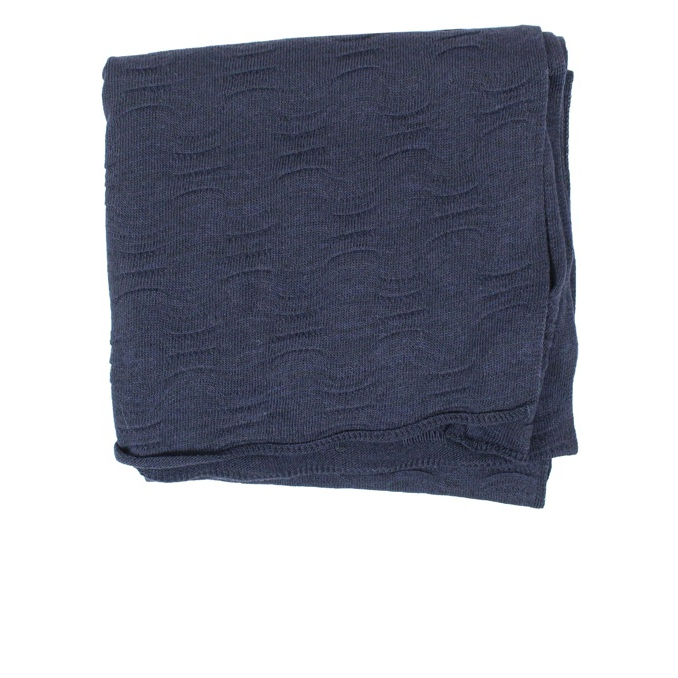 Solid color scarf Navy SCHONBBERG