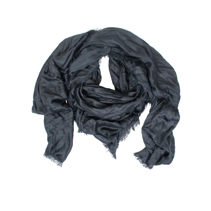 Jacquard scarf with fringes Black Twin-Set