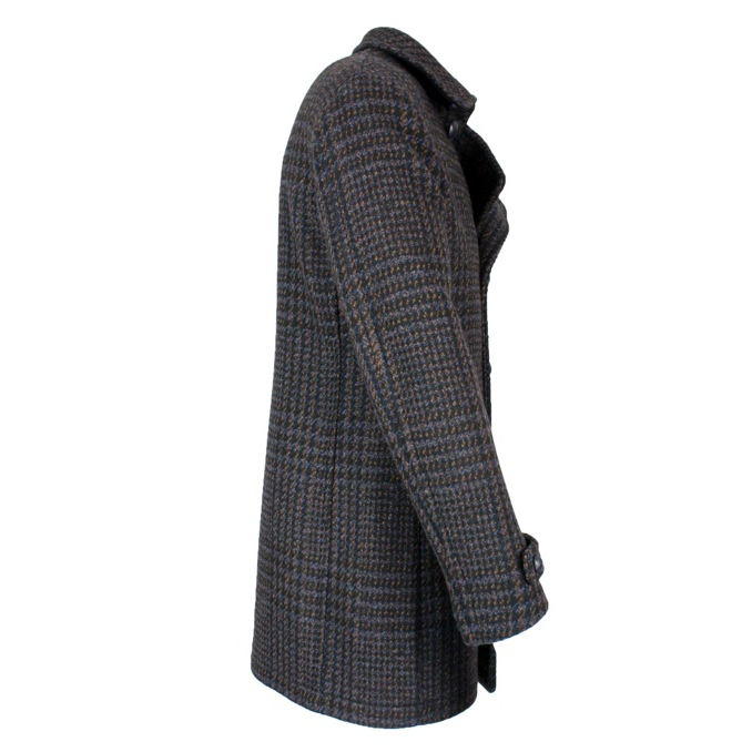 Long double breasted coat Brown TAGLIATORE