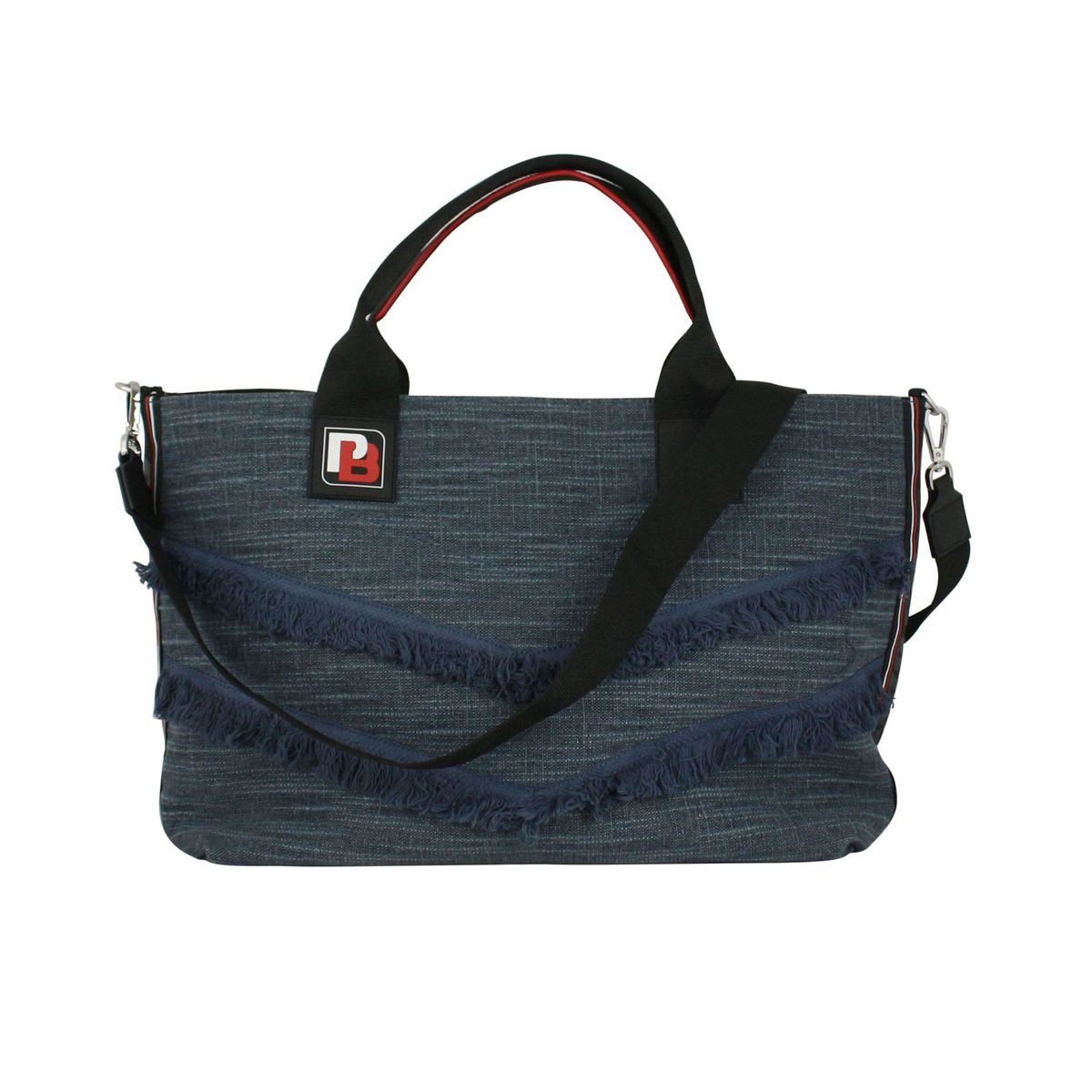 Chimera shopping bag in chevron Denim Pinko