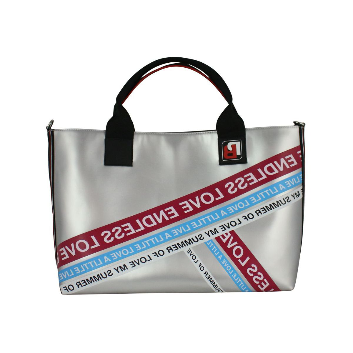 Talented wheeled shopping bag Silver Pinko