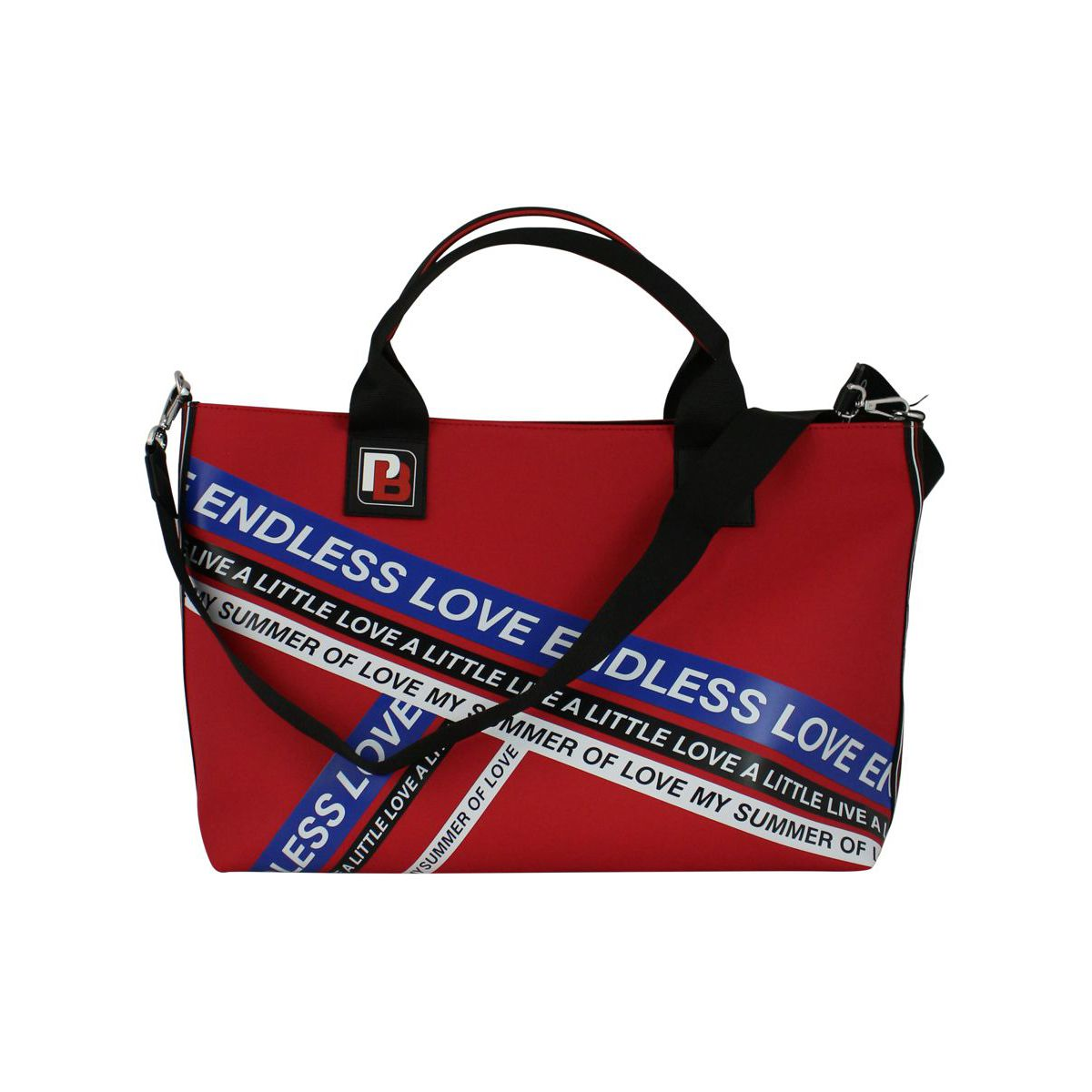 Talented wheeled shopping bag Red Pinko