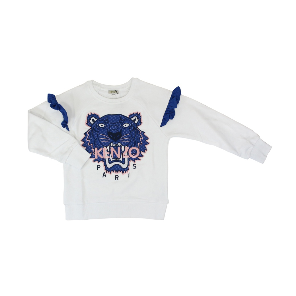 Tiger t-shirt with long sleeves White KENZO
