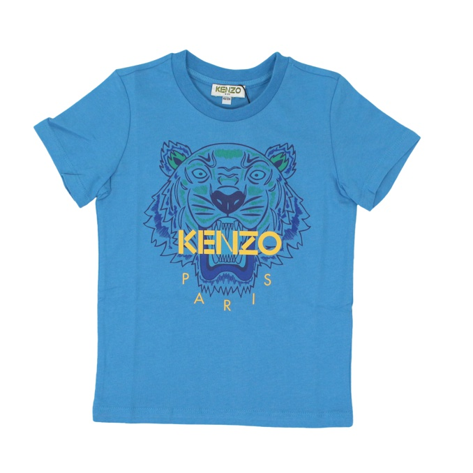 Tiger print cotton t-shirt Turquoise KENZO