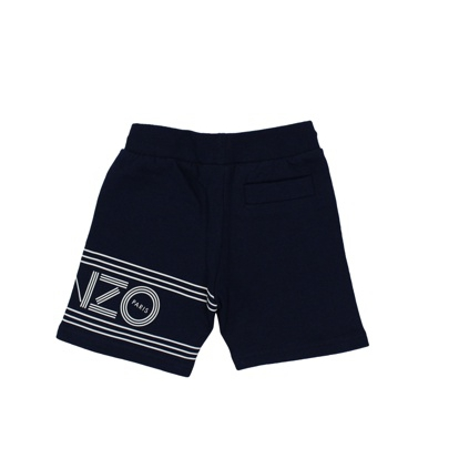 Cotton bermuda with logo Blue Kenzo