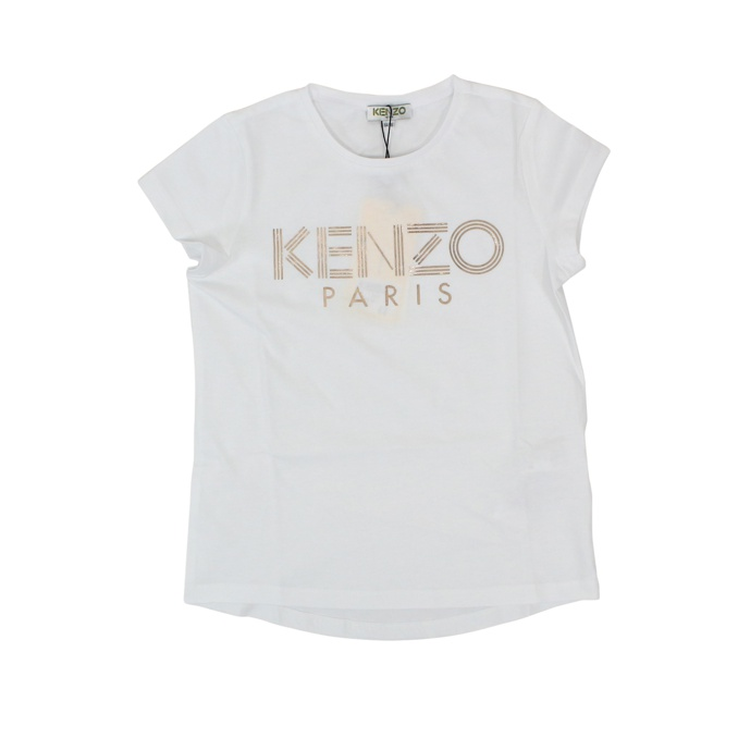 Short-sleeved T-shirt with logo print White KENZO