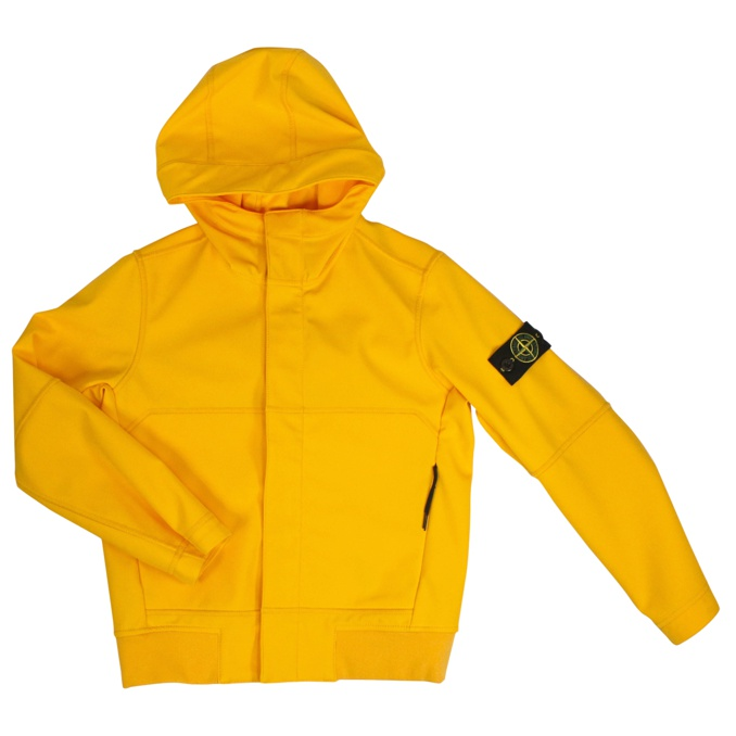 Neoprene jacket with hood Yellow Stone Island