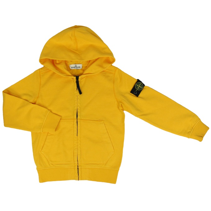 Hooded sweatshirt with zip Yellow Stone Island
