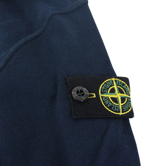 Crew-neck sweater in cotton Blue Stone Island
