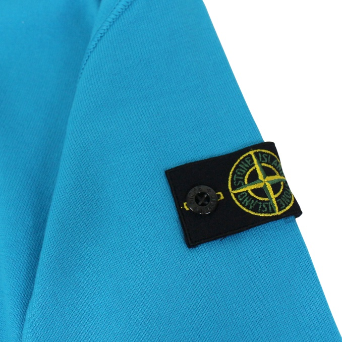 Crew-neck sweater in cotton Turquoise Stone Island