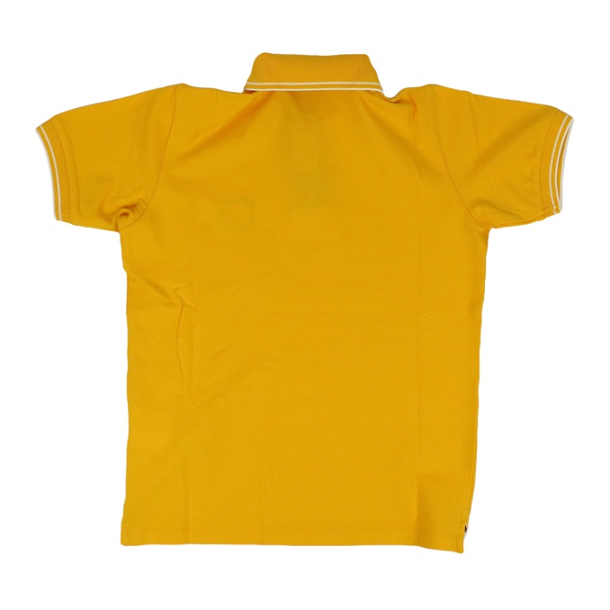 Cotton polo shirt with buttons Yellow Stone Island