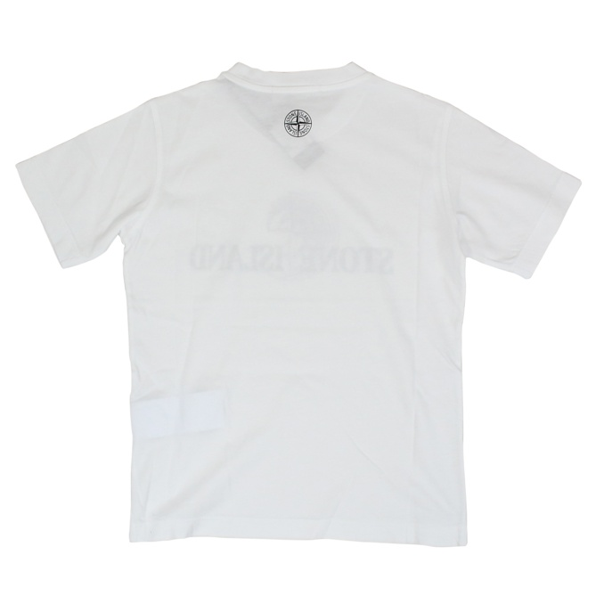 Cotton t-shirt with logo print White Stone Island