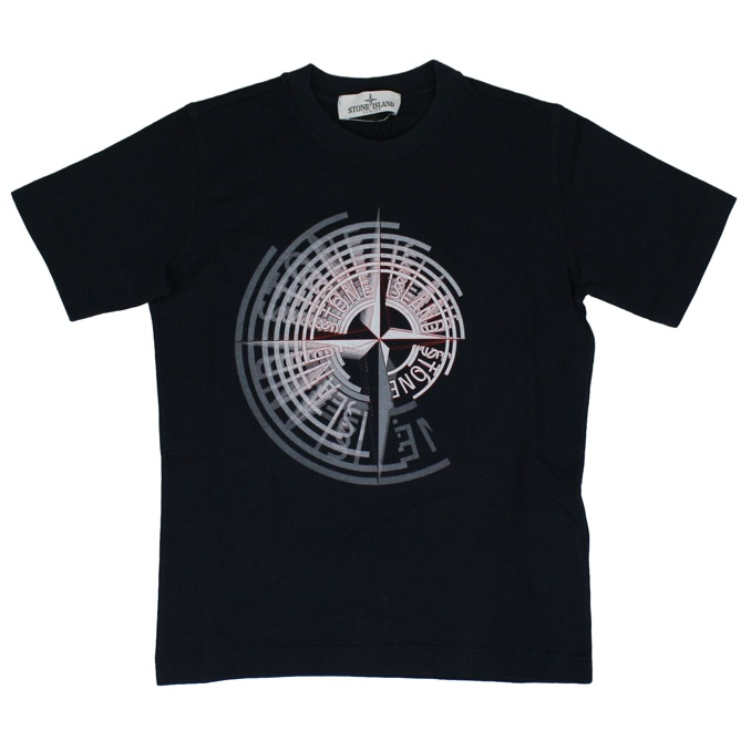 T-shirt with print Night blue Stone Island