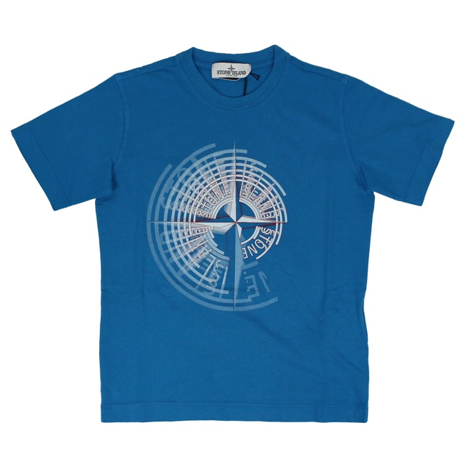 T-shirt with print Teal Stone Island