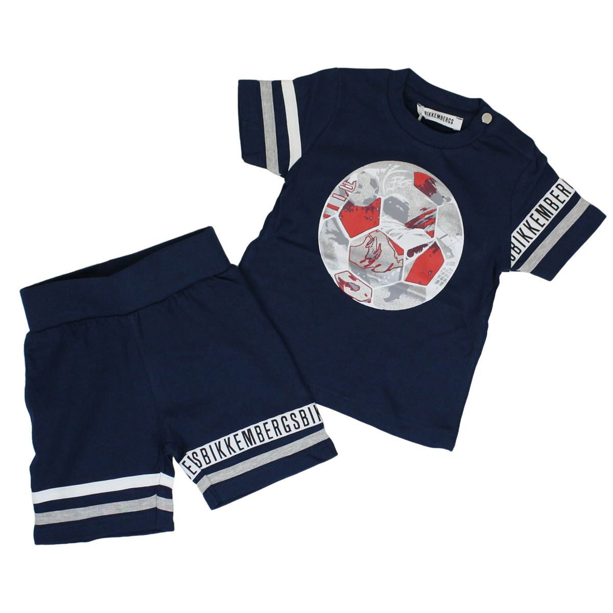Complete with t-shirt and trousers Blue BIKKEMBERGS