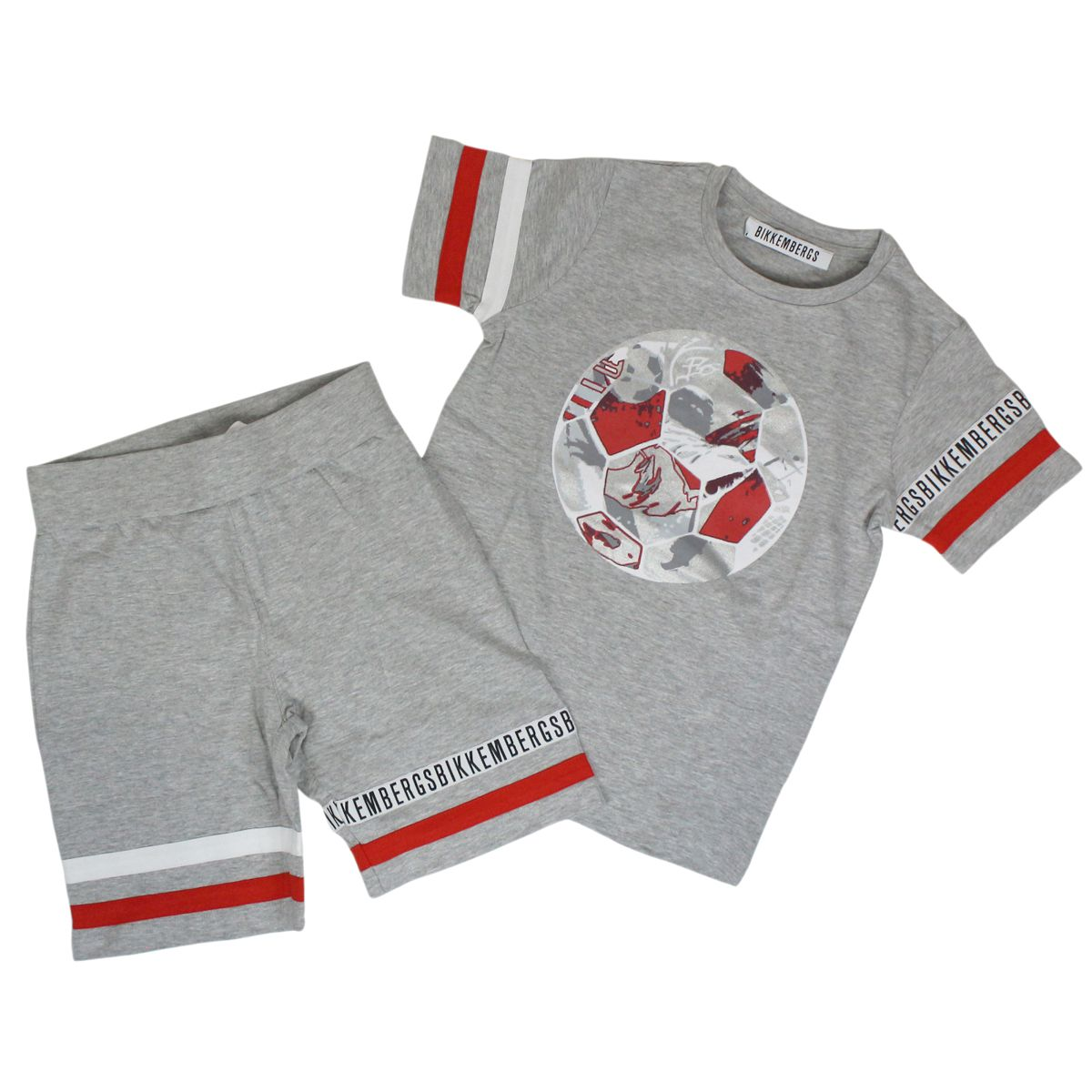 Complete with t-shirt and trousers Red BIKKEMBERGS