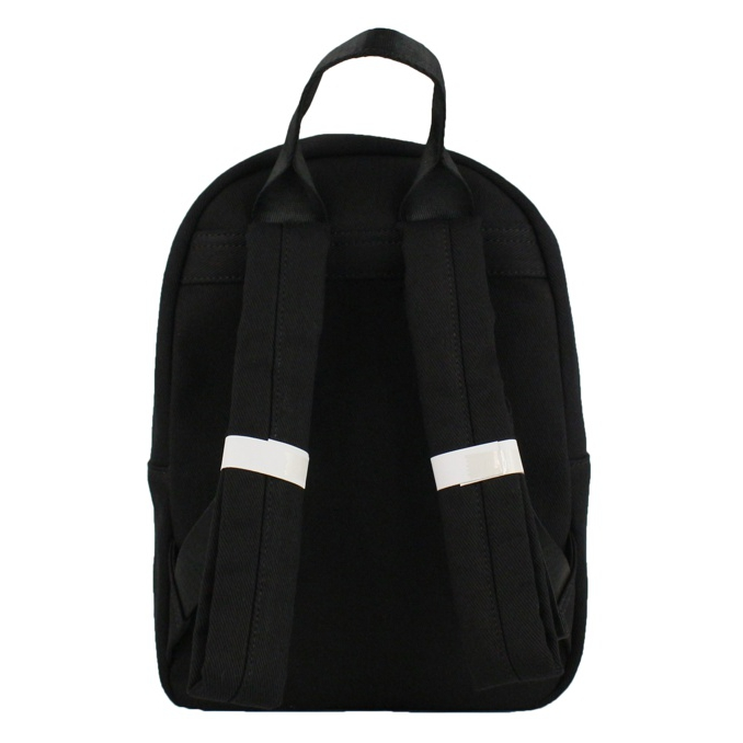 Backpack with glitter print Black Patrizia Pepe