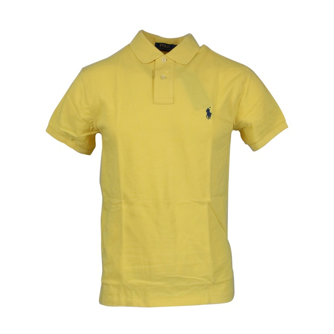 Polo 2 bottoni cotone slim fit Giallo Polo Ralph Lauren
