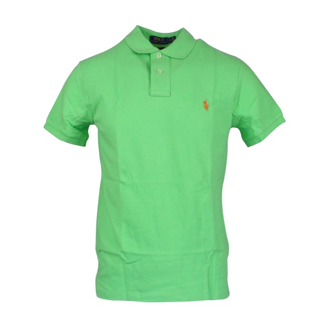 Polo 2 bottoni cotone slim fit Lime Polo Ralph Lauren