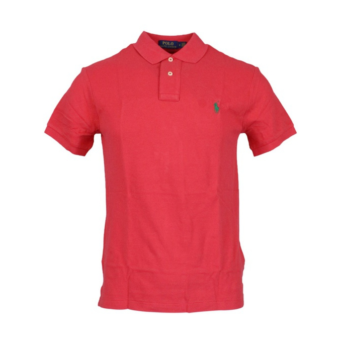 Polo 2 bottoni cotone slim fit Corallo Polo Ralph Lauren