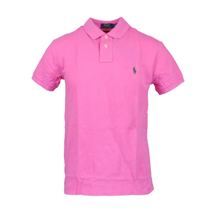 Polo 2 bottoni cotone slim fit Rosa carico Polo Ralph Lauren