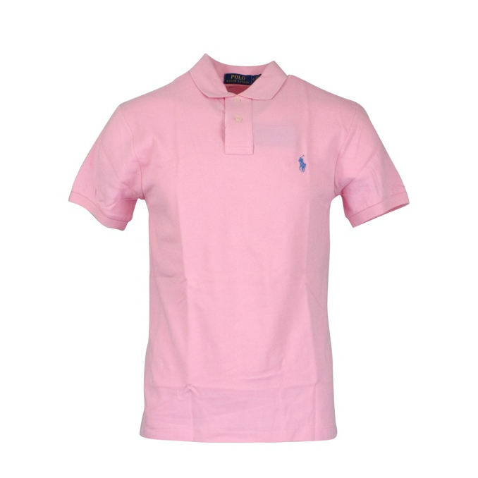 Polo 2 bottoni cotone slim fit Rosa Polo Ralph Lauren