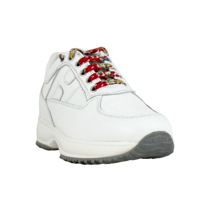 Interactive with contrast laces White Hogan