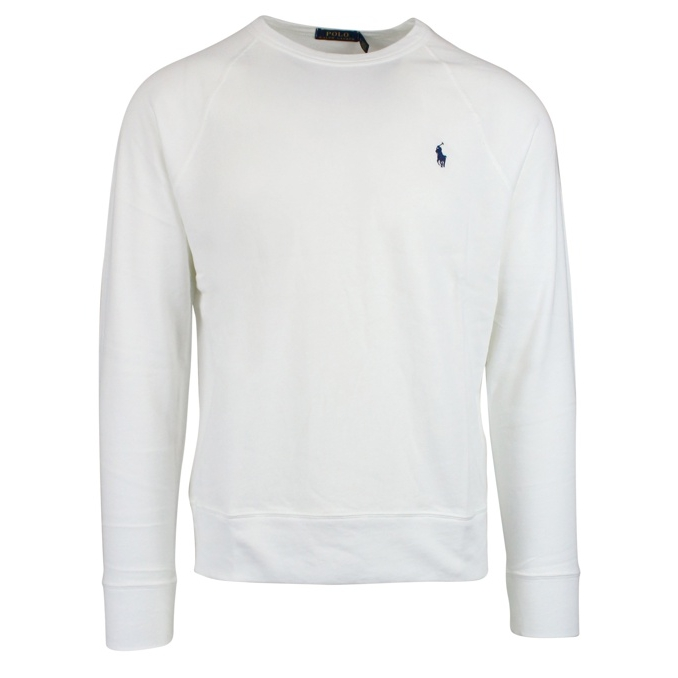 Crewneck sweatshirt with logo embroidery White Polo Ralph Lauren