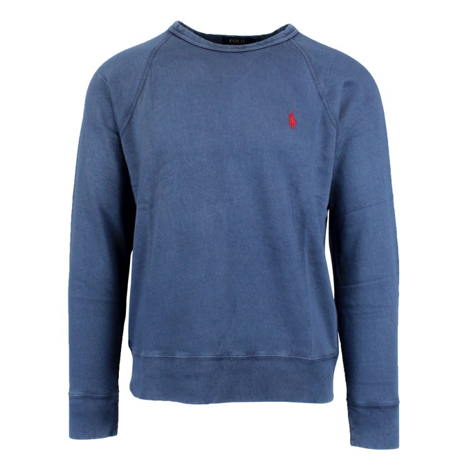 Crewneck sweatshirt with logo embroidery Blue Polo Ralph Lauren