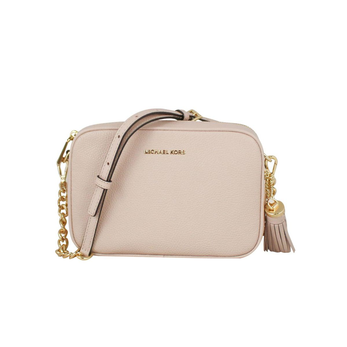 Ginny shoulder bag in leather Powder pink Michael Kors