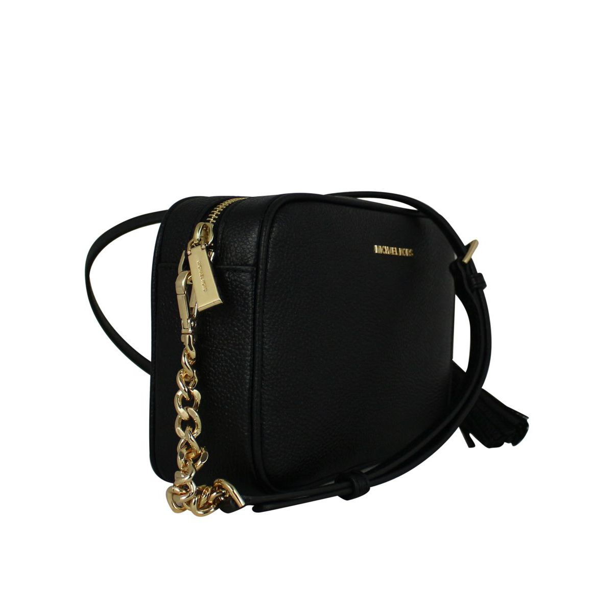 Ginny shoulder bag in leather Black Michael Kors