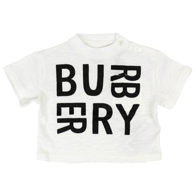 T-shirt Mini Furgus Bianco Burberry