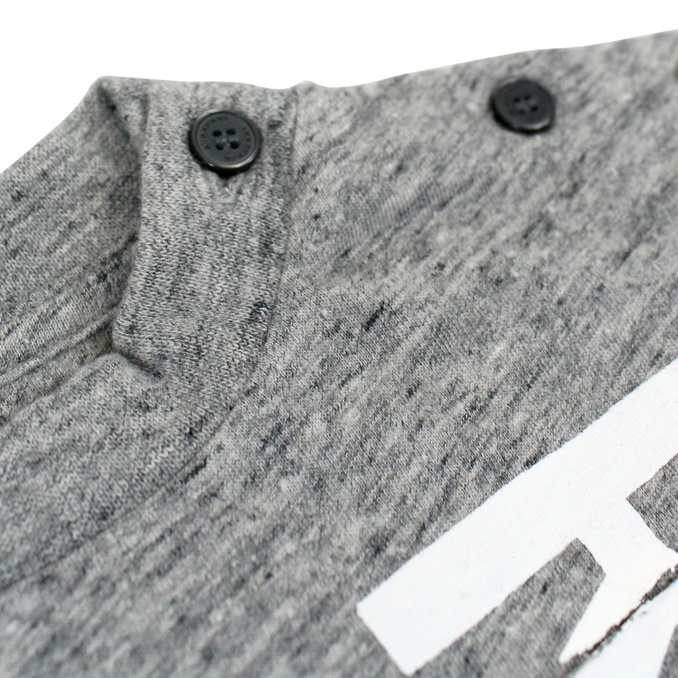 Short sleeve Mini Furgus t-shirt Grey Burberry