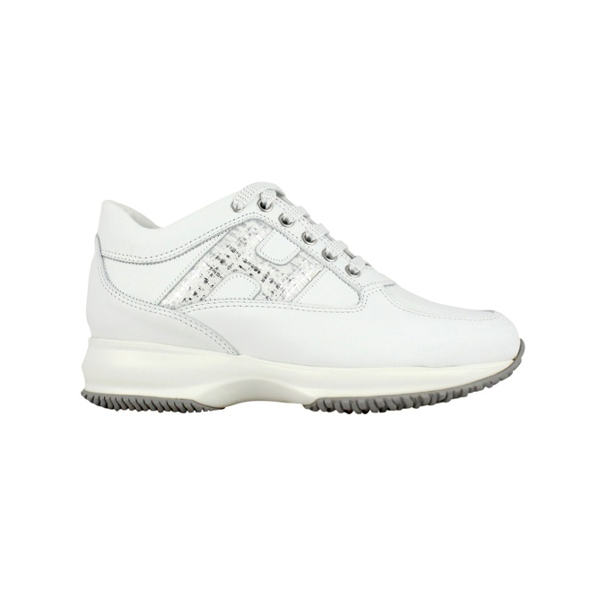 Laminated Interactive H Sneakers White / silver Hogan