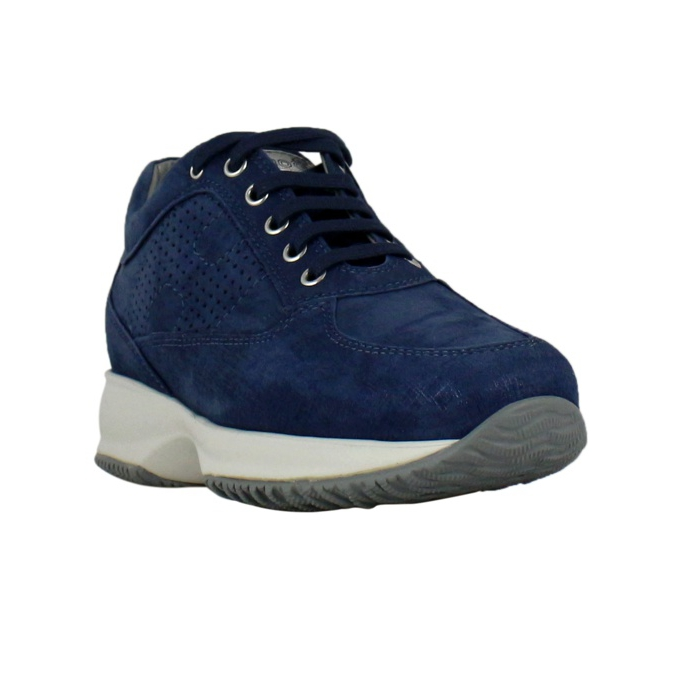 Perforated Interactive H Sneakers Blue bic Hogan