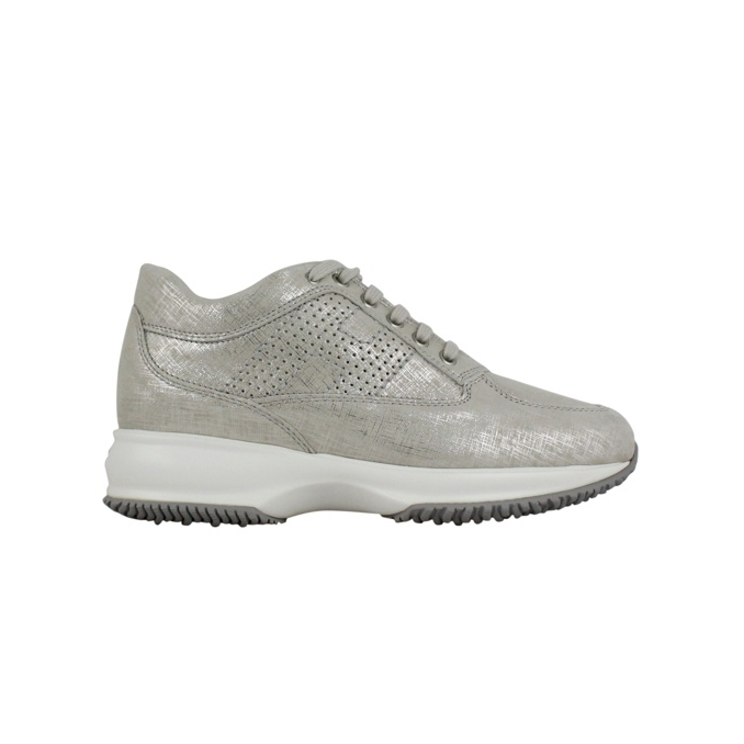Perforated Interactive H Sneakers Ice Hogan