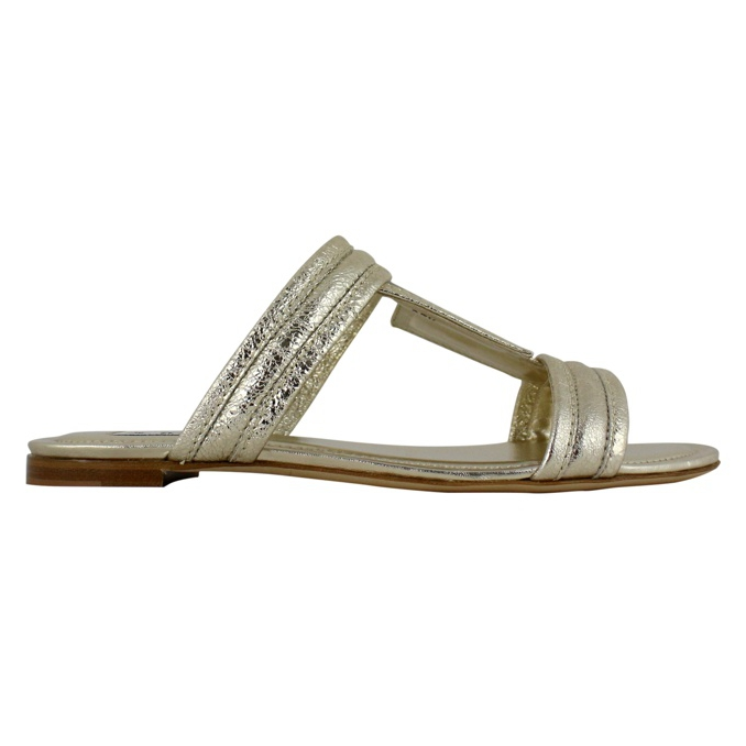 Double T sandal Gold Tod's