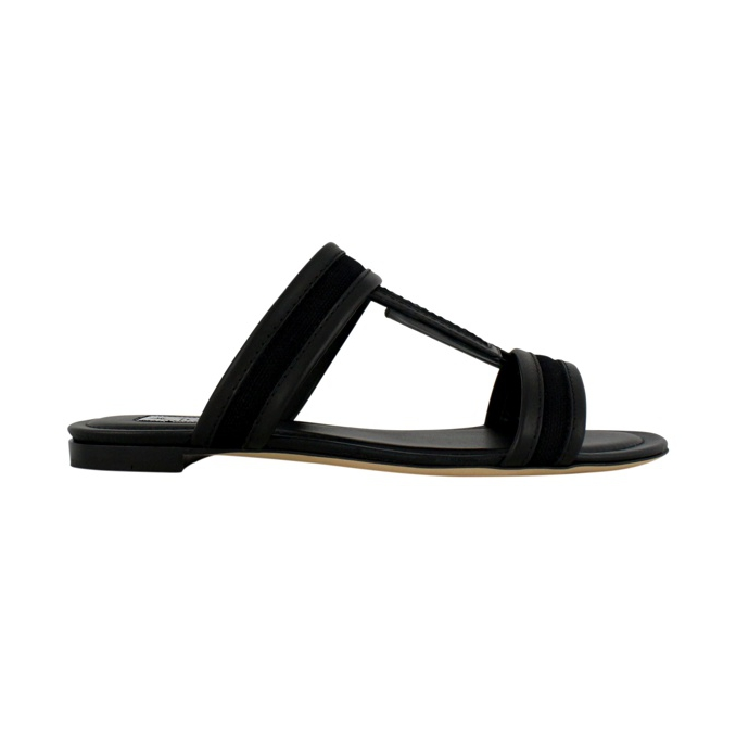 SANDALS LOGO DOUBLE T Black Tod's