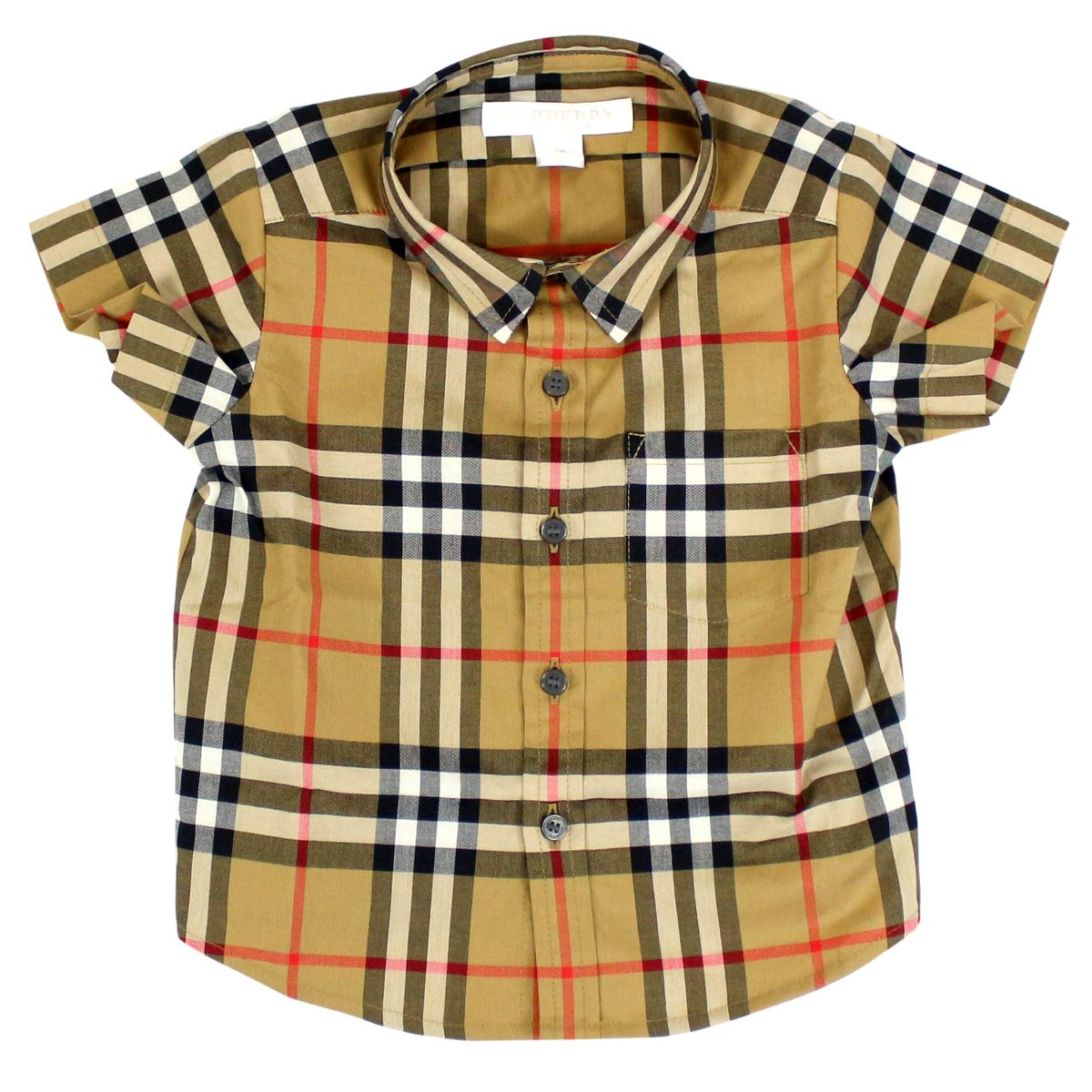 Fred cotton shirt Beige check Burberry