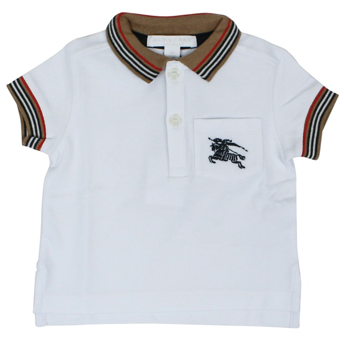Polo Mini Noel Bianco Burberry