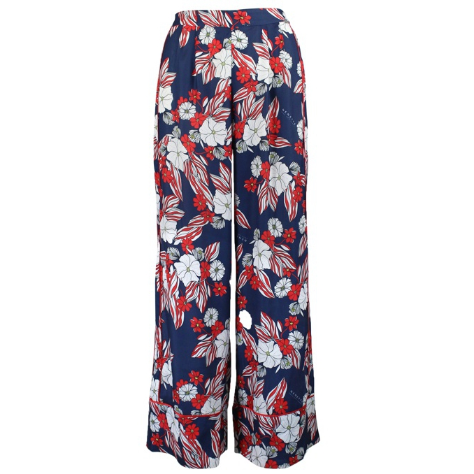 Evaldo trousers Blue / red NENETTE